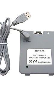 usb oplaadbare batterij met lader kabel voor nintendo wii fit balance board