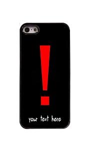 gepersonaliseerde geval uitroepteken ontwerp metalen behuizing voor de iPhone 5 / 5s