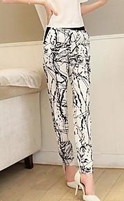 ts Damenmode lässig elastische Taille Druck Harem Bleistift Hose