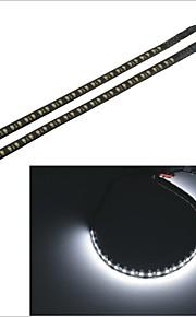 carking ™ 3528-32smd-30cm waterdichte auto decoratieve flitslamp strip-zwart (2 stuks)