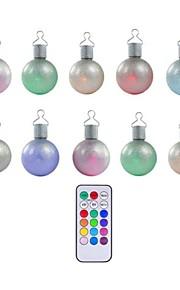 ensemble de 10 Multicolore télécommande conduit babioles de noël boules