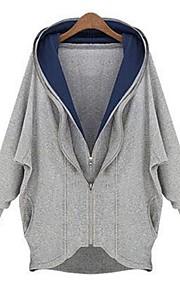 WeiMeiJia® Women's XXXXL Plus Size Irregular Show Thin Double Zipper Outerwear