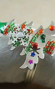 colorfull sneeuwvlok kerstboom servetring vele kleuren, acryl, 4,5 cm, set van 12