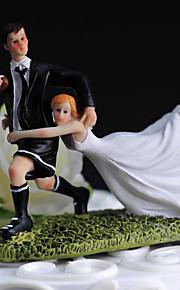 ケーキトッパー 非パーソナライズ 面白い / スポーツ 樹脂 結婚式 ホワイト / ブラック クラシックテーマ ギフトボックス