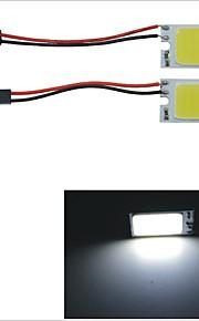 carking ™ t10 / BA9s / guirlande 28mm ~ 40mm 3v 21-COB LED hvid bil interiør dome lys (2 stk)