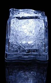 dovelo svjetlo dodir sjajne bijele kockice leda (12pcs)
