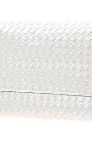 36Pcs White Wooden Pole Checks Pattern Leather Makeup Brush Sets