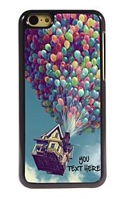personlig telefon sag - ballon design metal tilfældet for iphone 5c