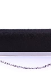 Handbag Silk/Crystal/ Rhinestone/Metal Evening Handbags/Bridal Purse With Crystal/ Rhinestone/Floral Rosette/Metal