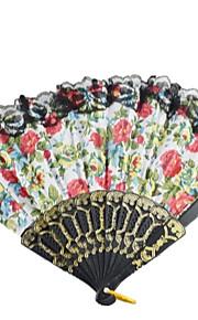 Big  Cloth Hand Fan---Set of 4