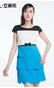 Women's Blue/Red Dress , Bodycon/Casual Short Sleeve