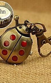 personlig gave legering mariehøne formet ur indgraveret nøgle spænde