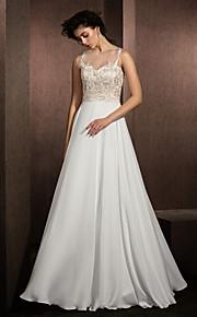Lanting Bride® Trapèze Petites Tailles / Grandes Tailles Robe de Mariage  Longueur Sol Bijoux Dentelle / Mousseline de Soie Satin avec