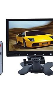 7 inch TFT LCD-auto stand / hoofdsteun druk op de knop-monitor - zwart