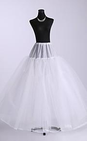 nylon balle robe trois niveaux de plancher-longueur des jupons