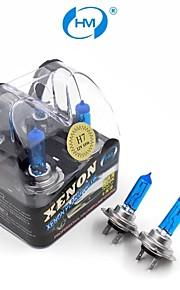 hm® xenon plasma H7 12V 55W halogenlampe forlygte hvid pærer (et par)