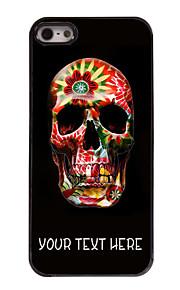 gepersonaliseerd geval kleurrijke schedel ontwerp metalen behuizing voor de iPhone 5 / 5s