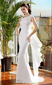 Lanting Bride® Trompette / Sirène Petites Tailles / Grandes Tailles Robe de Mariage  Traîne Brosse Bretelles Mousseline de soie avec
