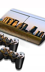 ps3 slim 4000 konsoll beskyttende klistremerke deksel hud kontrolleren hud klistremerke