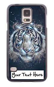パーソナライズされた携帯電話のケース - サムスンギャラクシーS5 i9600用レオ設計金属ケース