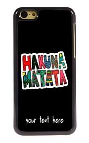 gepersonaliseerde geval Hakuna Matata ontwerp metalen behuizing voor de iPhone 5c