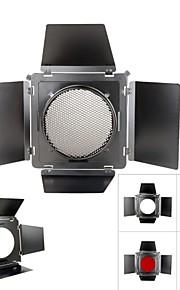 sn-02 honeycomb cover metal Barndoor farve filter sæt til standard reflektor 200mm standard hætte