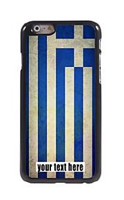 """gepersonaliseerd geval vlag van griekenland ontwerp metalen behuizing voor de iPhone 6 (4.7 """")"""