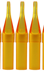 itatoo ™ 100st tattoo supply steriele gele plastic wegwerp tattoo tips-ronde tips