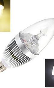 E14 - 9 Stearinlys Pærer (Warm White/Kald Hvit 72 lm- AC 85-265 V- 1 stk
