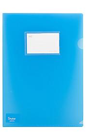 A4 פלסטיק עסקי קשה ותיקיית נייר בית ספר (10pcs / צבע אקראי)