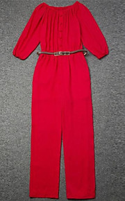 WeiMeiJia® Women's Boat Neck Strapless Long Sleeve Jumpsuits