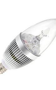 12W E14 LED-lysestakepærer 5 Høyeffekts-LED 120 lm Varm hvit AC 85-265 V 1 stk.