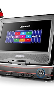 """ANNKE 8CH 960H 720P Remote View HDMI HVR DVR NVR CCTV Security Recorder w/ Built-in 10.1"""" LCD Monitor"""