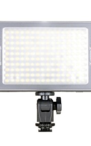 nuovi portatili perline 160-led C-160 B 3200K / 5500K 5W 600LM ha condotto la luce di video - nero