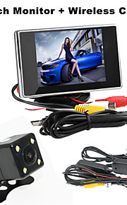renepai® 3,5 inch monitor + draadloze 170 ° hd auto achteruitrijcamera + high-definition groothoek waterdicht CMOS-camera