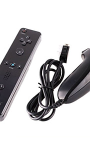 spil håndtere kablet nunchuck og remote controller med motion plus til Nintendo Wii / wii u (assorterede farver)