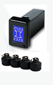 dæk for Toyota 4 eksterne sensorer psi / bar display, bil TPMS, dæktryk overvågning pres