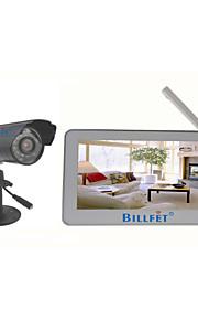 """2.4g dvr sistema de seguridad del monitor casa 7 """"TFT-LCD de 4 canales inalámbricos"""