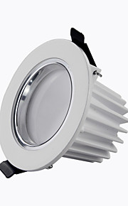"""éclairage 8a 2,5 """"cms 9w 810lm 2800-6500k blanc chaud dé blanc / froid aluminium coulée LED Spots ac180-265v"""