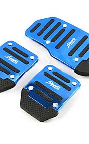 aluminium udskridning bil speeder bremse pedal pedaler er egnet til manuel bil (assorterede farver)