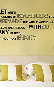 Wall Stickers Wall Decals , Boundless Love English Proverbs  PVC Wall Stickers