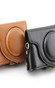 nieuwe m-zr1500 camera case voor casio zr1500 d.camera (zwart / bruin)