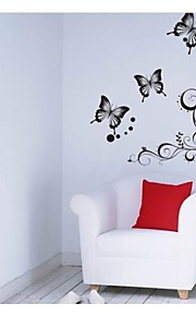 Classical Black Flower Wall Art For Parlor Vine Wall Decals Zooyoo051s Diy Decorative Stickers Home Decorations