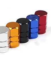 aluminium auto ventiel nozzle cap voor een verscheidenheid van gepersonaliseerde auto (set verschillende kleuren)