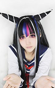 Angelaicos Women Super Dangan Ronpa 2 Ibuki Mioda Mixed Color Buns Prestyled Harajuku Anime Halloween Cosplay Wigs