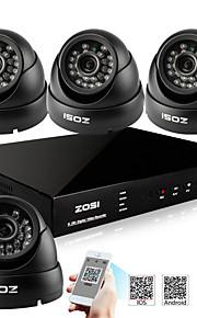 zosi® 800tvl 960h hdmi 500GB hdd 4CH H.264 DVR kits 4x udendørs dag nat ir cctv kamera sikkerhedssystem