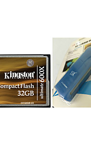 Kingston 32GB Ultimate 600x CompactFlash Memory Card (CF/32GB-U3) And CF Card Reader