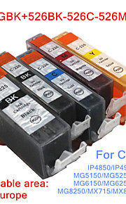 BLOOM®525BK+526BK/C/M/Y Compatible Ink Cartridge For Canon IP4850/IP4950/IX6550/MG5150/MG5250 Full Ink(5 color 1 set)