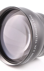 58MM 2.2X Teleconverter Lens Attached General Purpose for Canon Nikon Caliber 58MM Camera Can Be Used