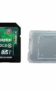 Kingston Digital 32 GB Class 10 SD Memory Card  And The Memory Card Box